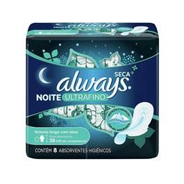Absorvente Always Noite Tranquilas Ultrafino com Abas Cobertura Seca 8 unidades