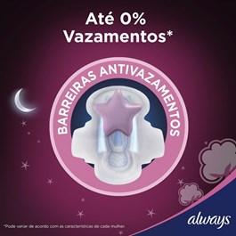 Absorvente Always Noites Tranquilas com Abas Cobertura Suave 8 unidades