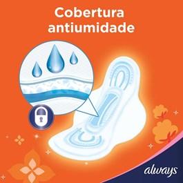Absorvente Always Super Proteção com Abas Cobertura Suave 8 unidades