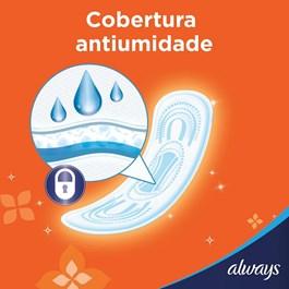 Absorvente Always Super Proteção sem Abas Cobertura Seca 8 unidades