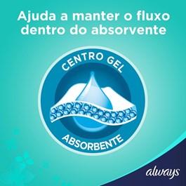 Absorvente Always Ultrafino com Abas Cobertura Seca 8 unidades