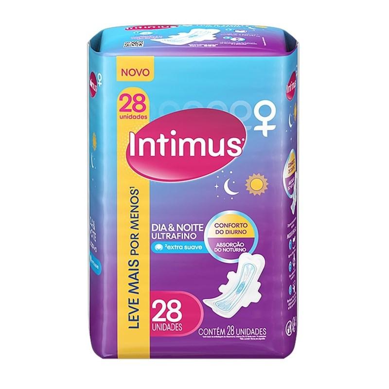 Absorvente Intimus Dia & Noite com Abas 28 unidades Extra Suave
