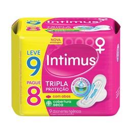 Absorvente Intimus Tripla Proteção com Abas 9 unidades Seca