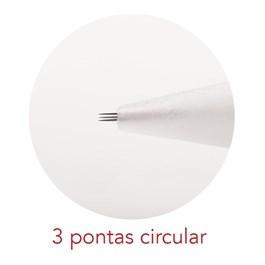 Agulha para Dermógrafo Mag Estética Dermomag 3 Pontas Circular 10 unidades