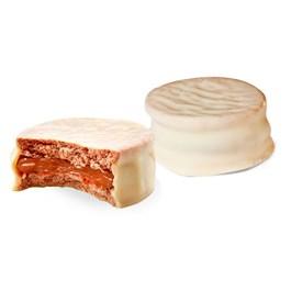 Alfajor Chocolate Branco 25 gr Recheio Dulce de Leche