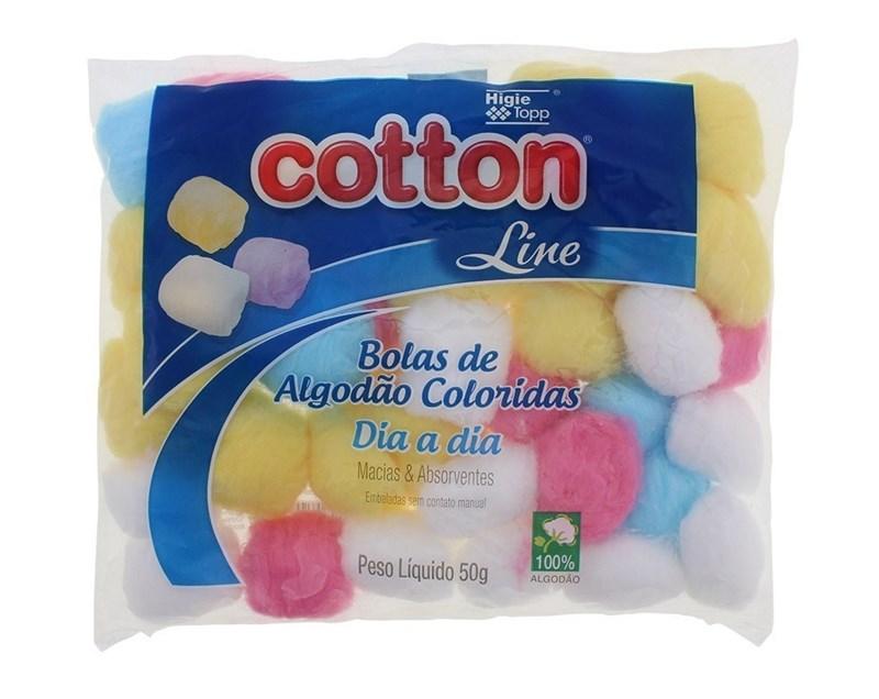 Algodão Cotton Line Dia a Dia 50 gr Bola Colorida
