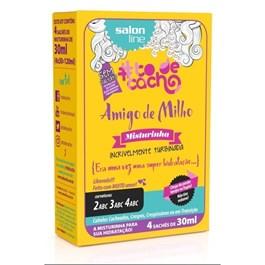 Amigo de Milho Maizena Salon Line #todecacho Misturinha 4 Sachês de 30 ml Cada