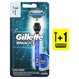 Aparelho de Barbear Gillette Mach3 Acqua Grip