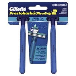 Aparelho de Barbear Gillette Prestobarba Ultragrip 2 Unidades