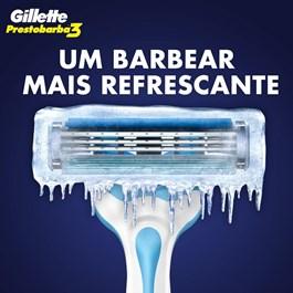 Aparelho de Barbear Gillette Prestobarba3 Ice 2 unidades