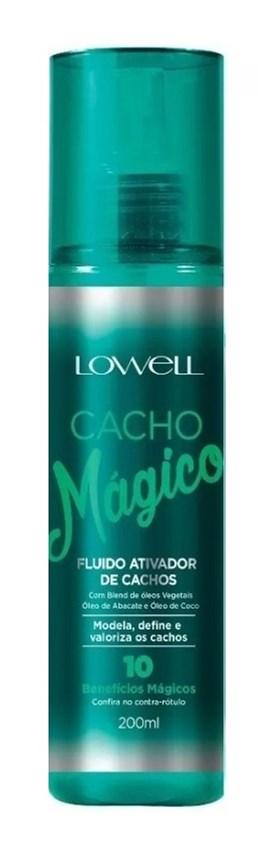 Ativador de Cachos Lowell Cacho Mágico 200 ml Modela Define e Valoriza os Cachos