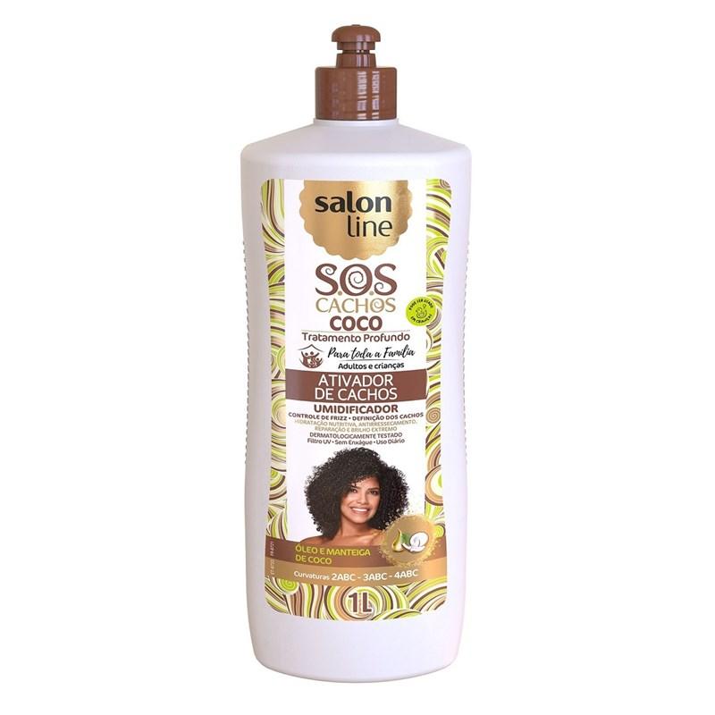 Ativador de Cachos Salon Line S.O.S Cachos 1 Litro Coco