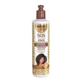 Ativador de Cachos Salon Line S.O.S Cachos 300 ml Coco