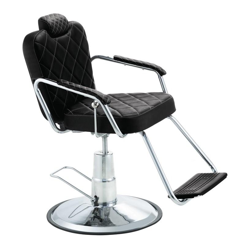 Cadeira Barbeiro Dompel Texas Reclinável Preto