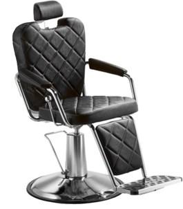 Cadeira Barbeiro Dompel Texas Wood Reclinável Preto