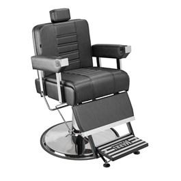 Cadeira Barbeiro Marri Detroit Cromada Reclinável Preto Facto