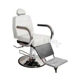 Cadeira Barbeiro Status Jumbo Base Redonda Reclinável Branco Factor
