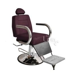 Cadeira Barbeiro Status Jumbo Base Redonda Reclinável Vinho Factor
