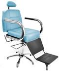 Cadeira Barbeiro Status Jumbo Reclinável Azul Ideal