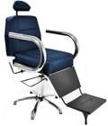 Cadeira Barbeiro Status Jumbo Reclinável Azul Royal