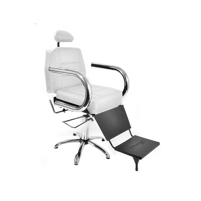 Cadeira Barbeiro Status Jumbo Reclinável Branco Factor