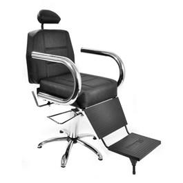 Cadeira Barbeiro Status Jumbo Reclinável Preto Factor