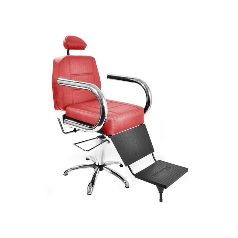 Cadeira Barbeiro Status Jumbo Reclinável Vermelho Factor