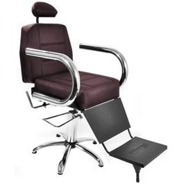 Cadeira Barbeiro Status Jumbo Reclinável Vinho Factor