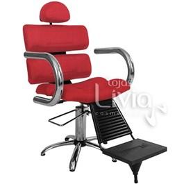 Cadeira Barbeiro Status Master Fixa Vermelho Factor