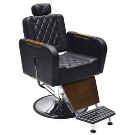 Cadeira Barbeiro Terra Santa Caravaggio Reclinável Preto Croco