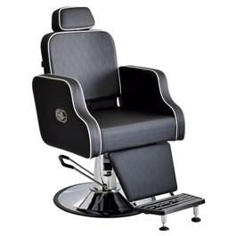 Cadeira Barbeiro Terra Santa Greco Fixa Preto Acetinado
