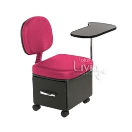 Cadeira Cirandinha Cromit Manu Rosa Gliter