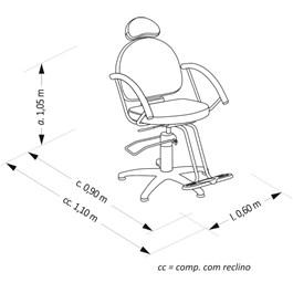 Cadeira Corte Van de Velde Lille Reclinável Branco
