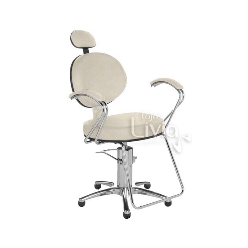 Cadeira Cromit Carol Luxo Fixa Areia Facto