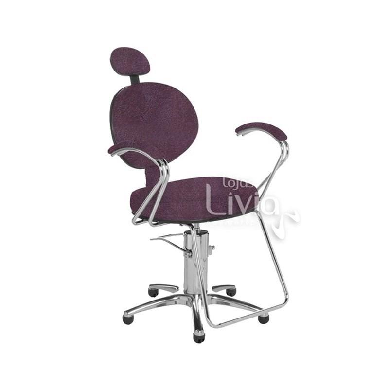 Cadeira Cromit Carol Luxo Fixa Bordô