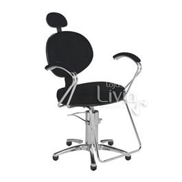 Cadeira Cromit Carol Luxo Fixa Preto