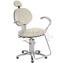Cadeira Cromit Carol Luxo Reclinável Areia Facto