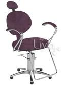 Cadeira Cromit Carol Luxo Reclinável Bordô