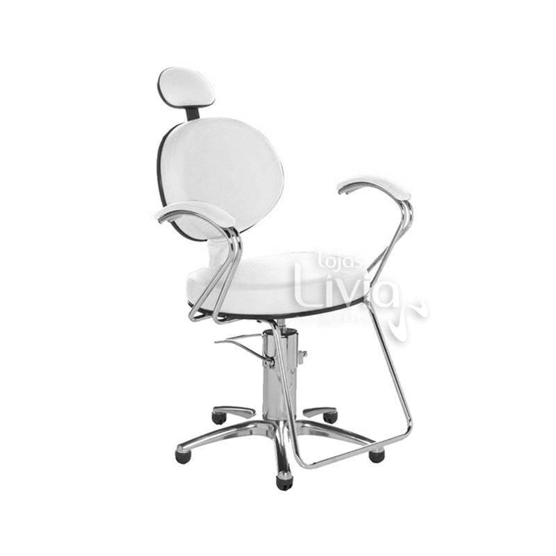 Cadeira Cromit Carol Luxo Reclinável Branco