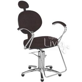 Cadeira Cromit Carol Luxo Reclinável Café Facto