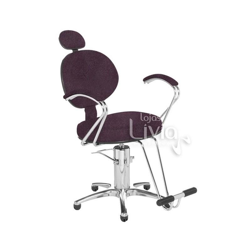 Cadeira Cromit Carol Premium Fixa Bordô