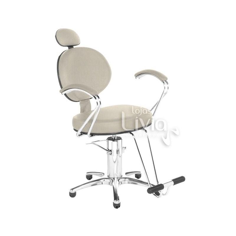 Cadeira Cromit Carol Premium Reclinável Areia Facto