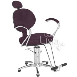 Cadeira Cromit Carol Premium Reclinável Bordô