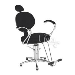 Cadeira Cromit Carol Premium Reclinável Preto