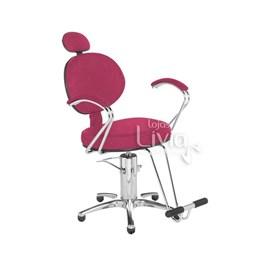 Cadeira Cromit Carol Premium Reclinável Rosa Gliter