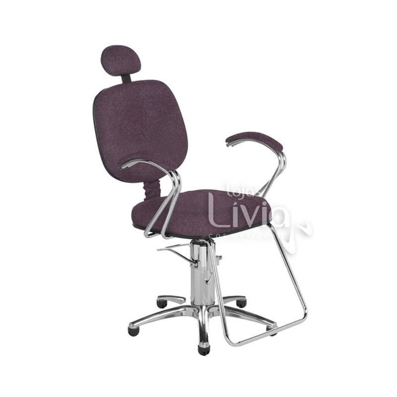 Cadeira Cromit Corsa Luxo Fixa Bordô