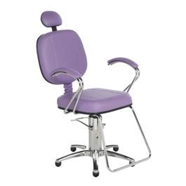 Cadeira Cromit Corsa Luxo Fixa Lilás