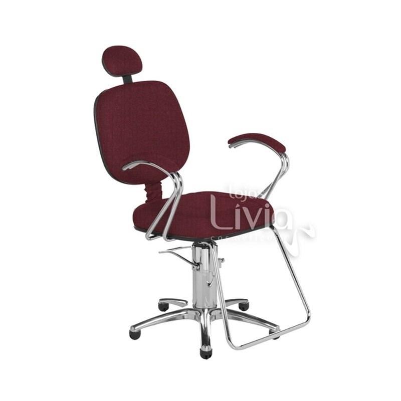 Cadeira Cromit Corsa Luxo Fixa Vinho Facto