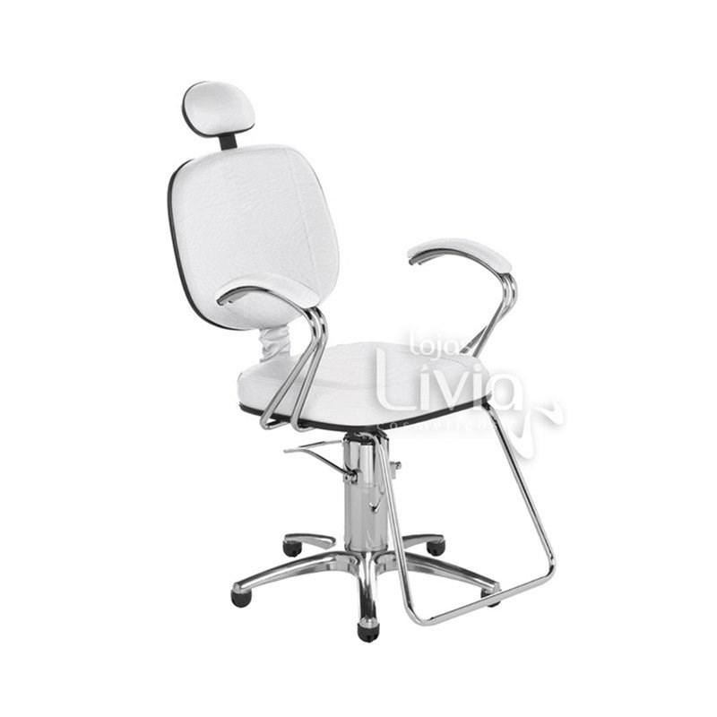 Cadeira Cromit Corsa Luxo Reclinável Branco