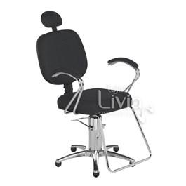 Cadeira Cromit Corsa Luxo Reclinável Preto